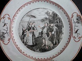 """A Rare Grisaille & Gilt """"The Geese of Brother Philip"""""""