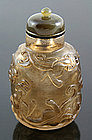 19th Century Chinese Smoky Crystal Snuff Bottle