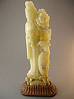 Large Chinese Soapstone Carving Guanyin, 19th Century