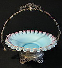 Victorian Silverplate & Satin Glass Bride