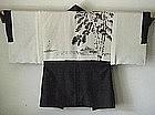 Man's Haori Short Kimono with Sumie