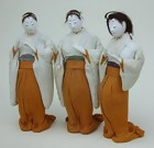 Antique Japanese Hina Dolls Ladies-in-Waiting Jyokan