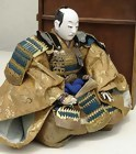 Japanese Antique Doll, Large Samurai General in Armor