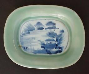 Beautiful Japanese Celadon dish, Seiji