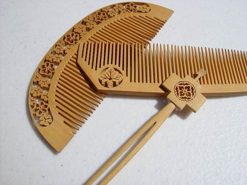 Japanese Tsuge Boxwood Comb Set
