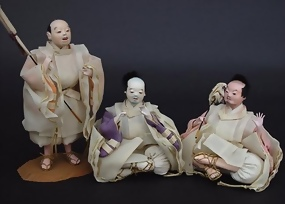 Three Servants Dolls, Japanese Hina Festival Doll