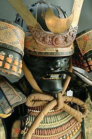 Japanese Samurai's Armor Full-Size Yoroi and Helmet