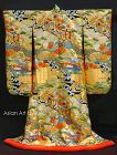 Japanese Uchikake Wedding Gown, Heian Genji Ox Cart