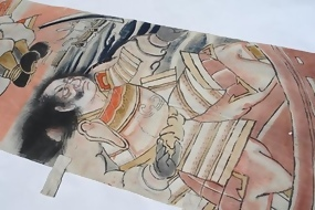 Antique Nobori Banner, The Last Battle of The Heike