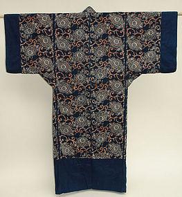 Japanese Yogi Kimono Shape Futon Bed Cover Katazome