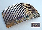 Delicate Wild Flowers on Kanzashi Comb