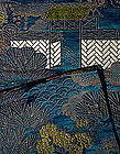 Beautiful Old Nishijin Blue Satin Silk Obi