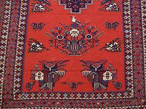 A Vibrant Hand-Made Kilim Rug, Uzbek / Caucasus