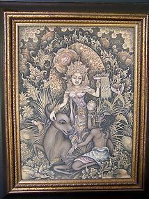 A Very Fine and Intricate Indonesian Original Painting