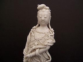 A Beautiful White Porcelain Guanyin,  Jingdezhen