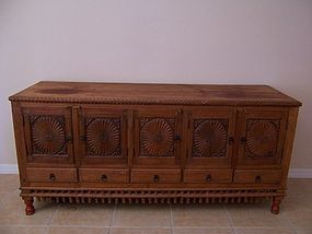 A Very Large Teakwood Sideboard, Kerala (India)