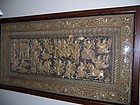 A Fine and Massive Vintage Burmese Kalaga, Framed