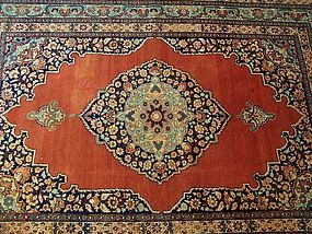 A Beautiful Antique Tabriz Rug, late 19th century
