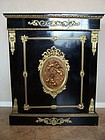 A Napoleon III Gilt Bronze Side Cabinet, 19th cent