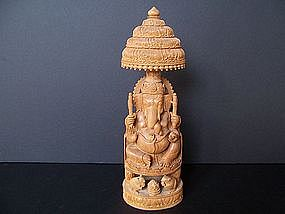A Superbly Carved Sandalwood Ganesh from Jasailmer