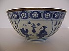Rare Japanese Edo Bowl (1700-1730) in Chinese Style