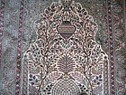An Extremely Fine Mughal-Style Silk Rug