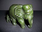 A Thai Nephrite Jade Elephant Group Carving