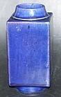 Blue Cong shaped vase, Qianlong ( 1736 - 1795 )