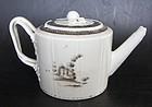 Teapot European sepia motif, Qianlong (1736–1795)