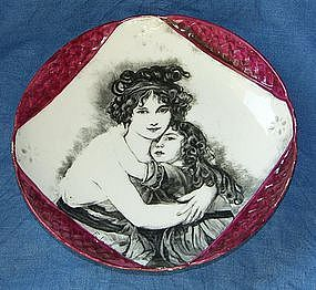 French porcelain dish around 1820
