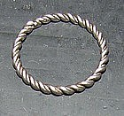 Late Viking Twisted Silver Ring, 1000 - 1300 AD