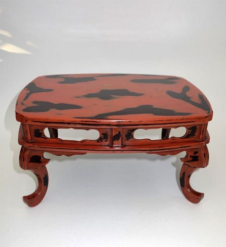 Antique Japanese Negoro Lacquer small table for Incense ...
