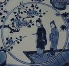 Rare Arita Chinese Subject Dish c.1680