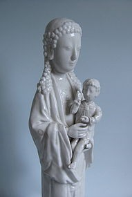 Fine Blanc de Chine Virgin Mary and Christ Child c.1700
