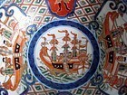 Imari Black Ship and Namban Bowl Meji