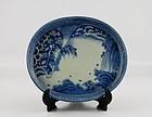 Ko Imari Tekkai Sennin Zu Tray c.1780 No 2