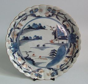 Ko Imari Landscape and Thistle Pattern Plate c.1730-50