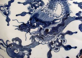 Ko Imari Dragon over the wall Plate c. 1750-80 No 1