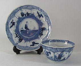 Chinese Export Tea bowl and Saucer Kangxi No 3