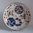 Large Ko Imari Shochikubai Roundels Dish c.1730 No 1