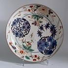 Large Ko Imari Shochikubai Roundels Dish c.1730 No 2