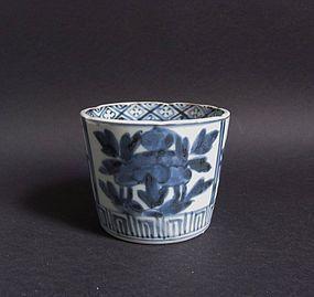 Ko Imari Botan-zu Soba Choku c.1760-80