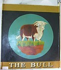 Antique English Bull Pub Sign Restaurant Trade Sign