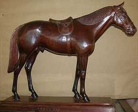 1940's Hand Carved Wood Cottesmore Horse Statue