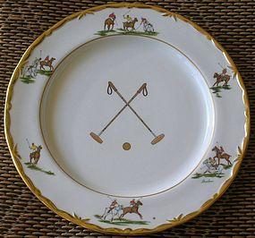 Boehm Porcelain Palm Beach Polo Club Charger Plates
