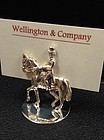 Sterling Silver Dressage Horse Place Card Holders Set/6