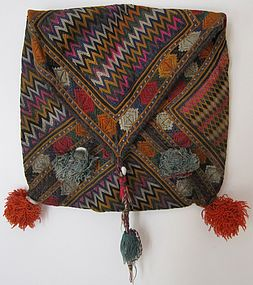An embroidered make-up bag from Ghazni, Afghanistan