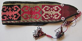 A man's embroidered wrist band - Lakai Uzbek