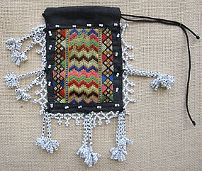 A tobacco pouch from Palas Valley, Pakistan