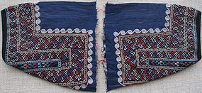 A pair of women's dress sleeves from Turkmenistan